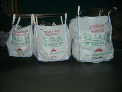 Bags of BOM Rock Salt